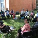 Abschluß-Workshop im Garten