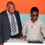 Musikspieler in der Menelik-Schule