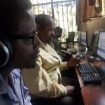Computerkurs mit blinden Teilnehmern in Addis Abeba
