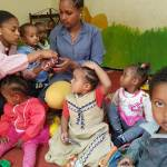 Kinder bei der NGO TOGETHER ind Addis Abeba